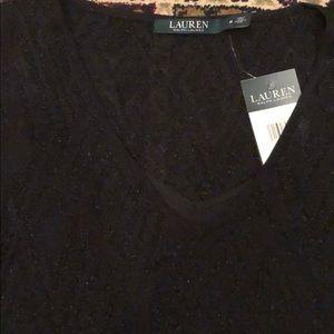 Lauren Ralph Lauren Little Black Summer Dress Sz M